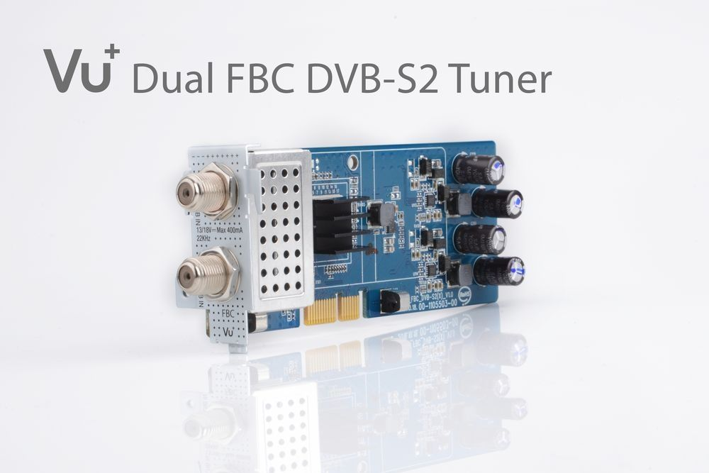 Vu+ DVB-S2/S2X FBC Twin Tuner Uno 4K / Ultimo 4K / Duo 4K (8 demodulators)