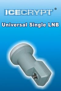 ICECRYPT 0.1db Universal Single LNB